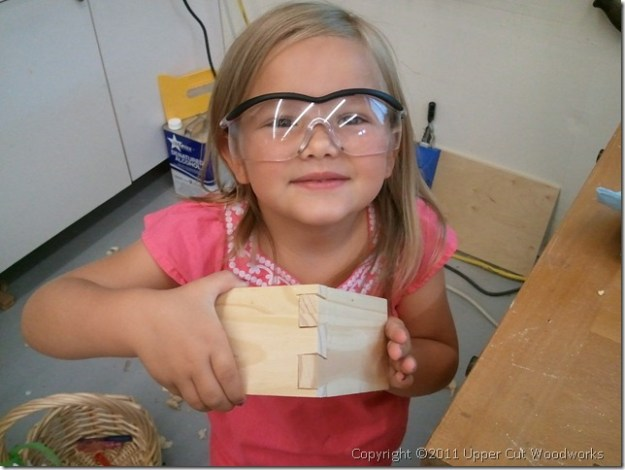 My four year-old Hayden with dovetail joint #3.