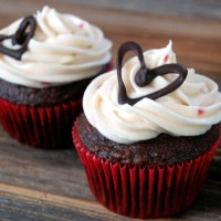 How To: Small Batch Cream Cheese Frosting and Chocolate Cupcake Decorations