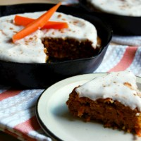 Skillet Carrot Cake with Coconut Cream Icing
