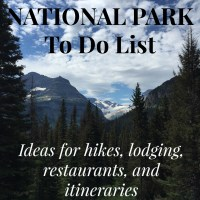 Glacier National Park To Do List