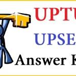 uptu answer keys