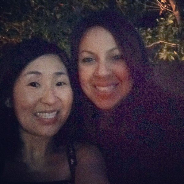 Alice and I at the Closing Party of the BlogHer Food Conference