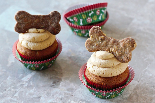 Peanut Butter Pupcakes with Peanut Butter Frosting