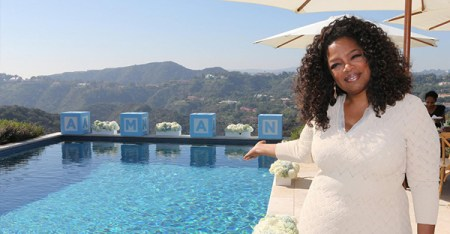 Oprah Winfrey is the Godparent of Tyler Perry's son Aman. (Facebook/Tyler Perry)