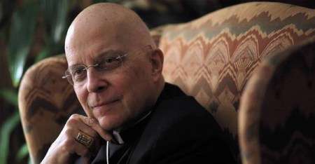 Cardinal Francis George, at his residence in Chicago in 2013, talks with Tribune reporter John Kass about choosing a new pope. (E. Jason Wambsgans, Chicago Tribune)