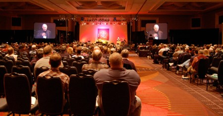 Bible study at a conference for Evangelical Covenant Church, a network of 800 churches. (Cathy Stanley-Erickson)
