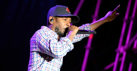 Kendrick Lamar performing at Heineken Primavera Sound 2014 Festival (PS14) Barcelona, May 30, 2014 (Credit: Christian Bertrand / shutterstock.com)
