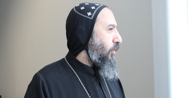 Bishop Angaelos, general bishop of the Coptic Orthodox Church in the United Kingdom, during his visit to Washington, D.C., on March 10, 2016. (RNS photo by Adelle M. Banks)