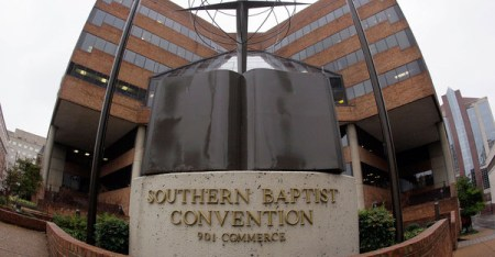 The headquarters of the Southern Baptist Convention in Nashville, Tenn., is seen in this 2011 photo. SBC president, the Rev. Ronnie Floyd, has organized a denomination-wide discussion of racism ahead of the Southern Baptists' annual meeting next Tuesday. (Mark Humphrey/AP)