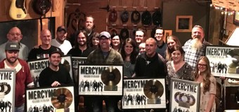 "MercyMe's ""Welcome to the New"" Receives RIAA Gold Certification"