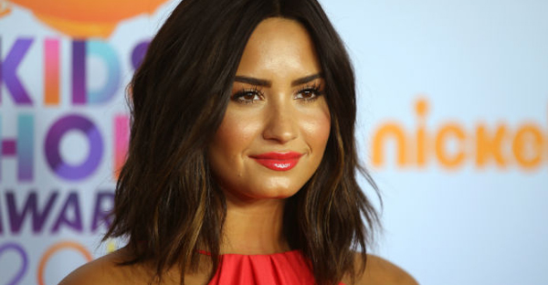 Demi Lovato at the 2017 Kids' Choice Awards. (REUTERS/Mike Blake)