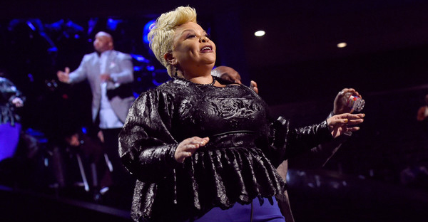 Co-host Tamela Mann performs onstage during the BET Presents Super Bowl Gospel Celebration at Lakewood Church on February 3, 2017 in Houston, Texas. (Rick Diamond/Getty Images North America)