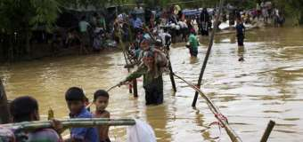 Heavy Rain Forces Relocation of Rohingya Refugee Camps