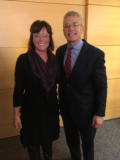 Left to Right: Sara Groves with Gary Haugen of IJM at the Ronald Reagan Building.