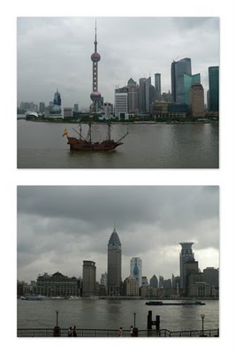 Shanghai Liujiazui (top) and Bund (bottom) (c) Hyun Shin 2010