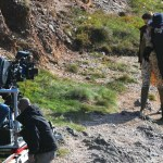 Actor Johnny Depp filming new Tim Burton movie Dark Shadows on Location in Devon