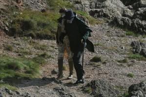 Actor Johnny Depp filming new Tim Burton movie Dark Shadows on Location in Devon