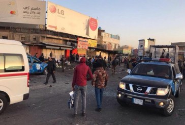 بغداد میں دو بم باروں کا خود کش حملہ ، 38 افراد ہلاک