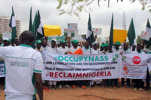Saraki, Other Senators Avoid Main NASS Gate As #OccupyNASS Protests Continue