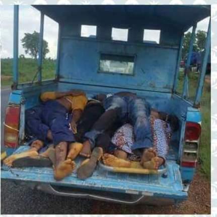 Five Die   as 'God is Good Motor' Crashes with Dangote Trailer Along Abuja-Lokoja Road (PHOTOS)