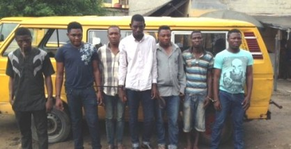 'One Chance' robbery suspects arrested by RRS in Llagos yesterday