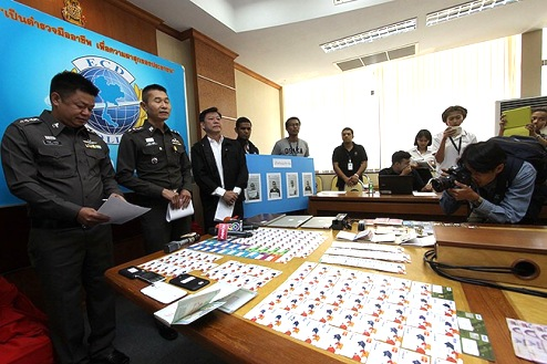 Two Nigerians Arrested with 254 ATM Cards in Thailand