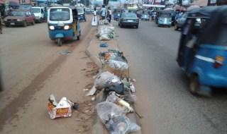 Major street in Asaba
