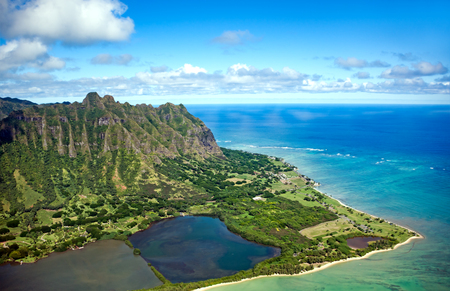 Aerial View Of Oahu Island In Hawaii Stock Photo  Picture And     Aerial view of Oahu island in Hawaii Stock Photo   81471306