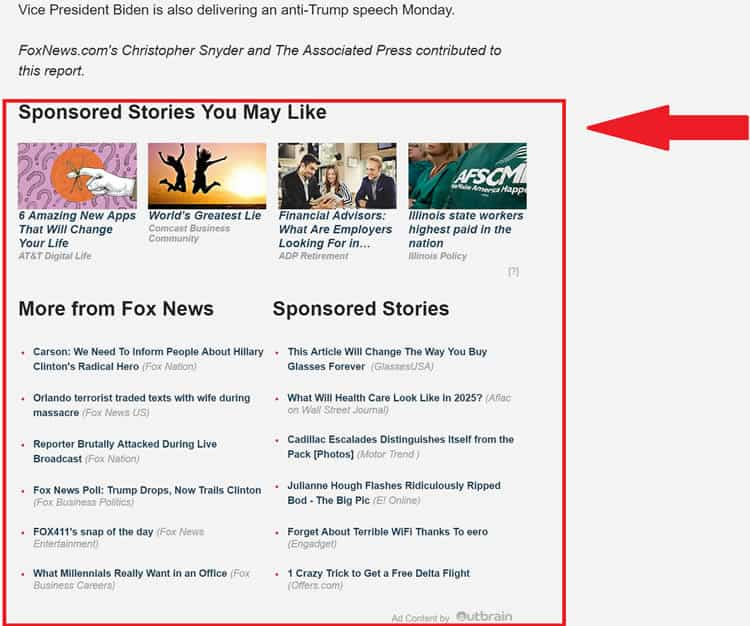 Suggested content redundancy (Fox News)