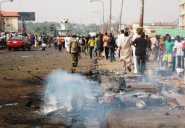 TERROR Bombings kill 66 in bloody 2012 Easter in Nigeria's north; 22 die in collapsed church