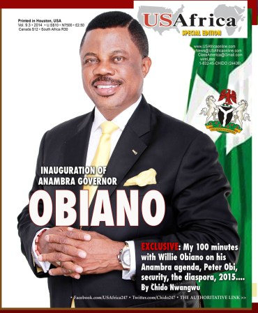 USAfrica: Anambra's Obiano set for his first S-East Governors meeting, after his impressive first week