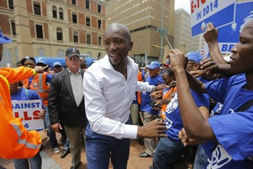 South Africa's opposition party elects first black leader
