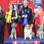1st place John Nys and Sheltie, Rush 2nd place Karen Beattie Massey and Pumi, Bella 3rd place Geri Hernandez and Mini Poodle, Switch