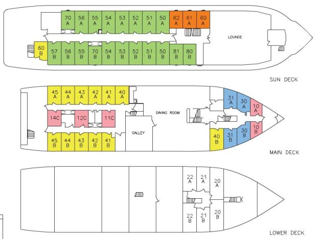 Grande Caribe Deck Plan 2016