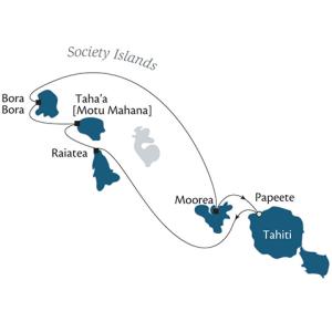 Map of Tahiti and Society Islands