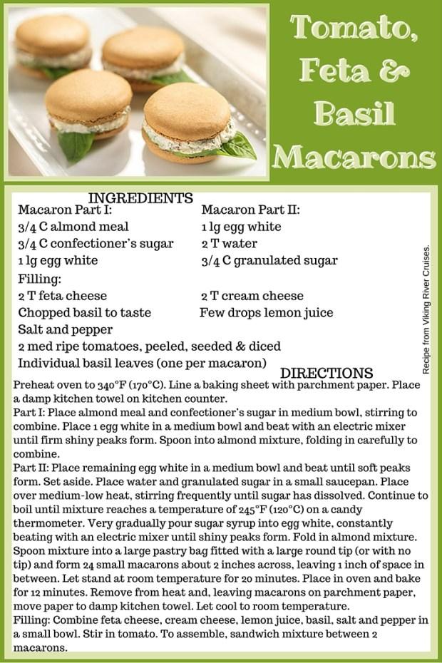 Viking Tomato Feta Basil Macarons Recipe