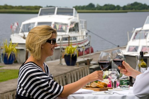 Toast onboard the Shannon Princess barge in Ireland