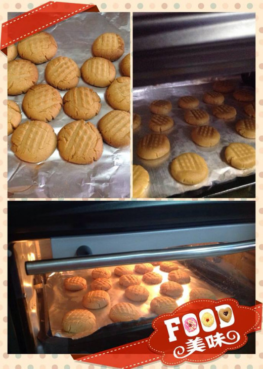 I made this collage with the MeiTu App to share my peanut butter cookies with my Facebook friends but you can use it on your recipe blog or site