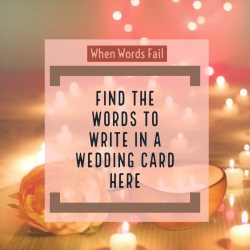 Small Of What To Write In A Wedding Card