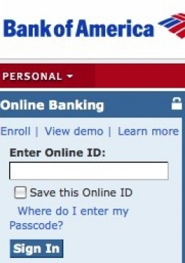 Bank of America Online Banking Sign In