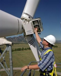 """Technician"" happens to be one of the only wind jobs that currently requires special certification. Image from the Department of Energy."