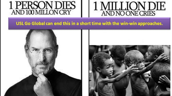 SteveJobs vs. Millions of Deaths