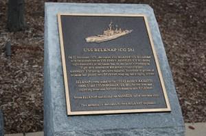USS Belknap Memorial Placque