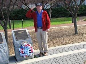 Wreath Laying at Belknap Memorial