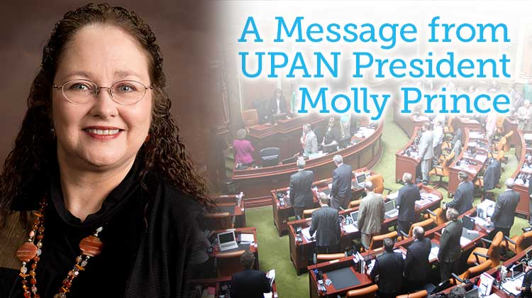 A Message from UPAN President Molly Prince – February 2016