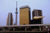 Tokyo Sky Tree et le siège de la bière Asahi