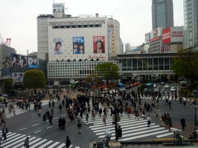 ... juste le feu vert pour les piétons à Shibuya