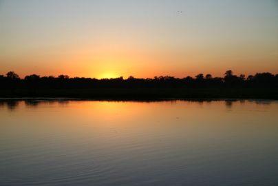 Lever du soleil sur Yellow water (Kakadu)