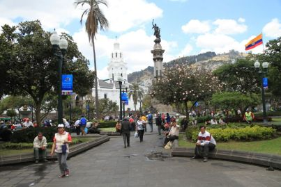 Quito et sa place San Francisco