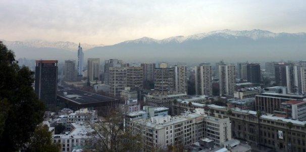 "Santiago vu depuis ""el cerro Lucia"""